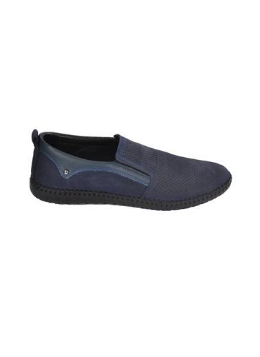 Castle Black 21107 Siyah Erkek Hakiki Deri Günlük Ayakkabı Lacivert
